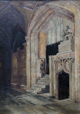 philip walker  - church interior - richard taylor fine art (2)