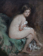 Nude Female Portrait Susannah by Philip Wilson Steer Richard Taylor Fine Art