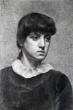 Portrait of Young Woman Pre-Raphaelite Victorian Drawing  Richard Taylor Fine Art