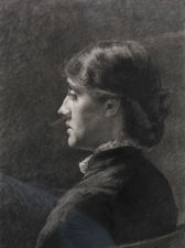 Victorian Pre-Raphaelite portrait drawing of a woman Richard Taylor Fine Art