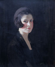 Art Deco Female Portrait by Robert Hope at Richard Taylor Fine Art