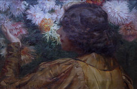 robert payton reid - portrait of a flower lady -richard taylor fine art