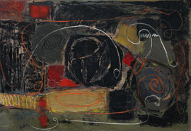 ../Robert Sadler Red Black Gold Abstract Richard Taylor Fine Art