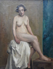 Victorian Female Nude in Art Class by Sara Wells Page Richard Taylor Fine Art