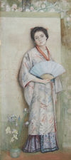 Pre-Raphaelite Watercolour of Japanese Lady by George Henry Richard Taylor Fine Art