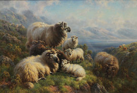 Scottish Edwardian Sheep Landscape by Arthur Sydney Watson Richard Taylor Fine Art