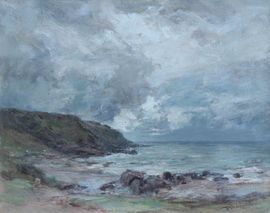 ../Machrihanish Seascape by Sir Charles James Lawton Wingate Richard Taylor Fine Art