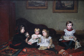 Victorian Children Portrait by Susan Isabel Dacre Richard Taylor Fine Art