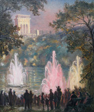 Fountains at Pernes les Eaux by Sylvia Gosse Richard Taylor Fine Art