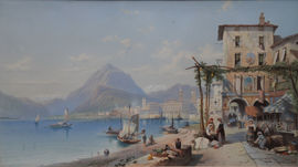 ../Bay of Naples Italy British Victorian Art by Thomas Leeson Rowbotham Richard Taylor Fine Art