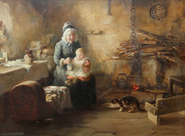 ../Victorian Scottish genre interior oil painting by Thomas McEwan Richard Taylor Fine Art