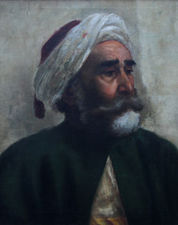 Orientalist 19th century portrait oil painting from the Turkish School Richard Taylor Fine Art