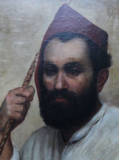 19th century Portrait of a Turkish Man Richard Taylor Fine Art