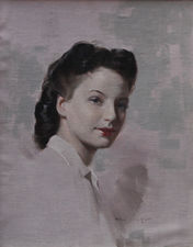 Portrait of a 40's Iconic Woman by Van Jones at Richard Taylor Fine Art