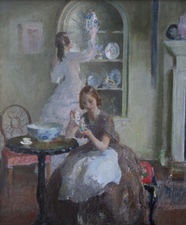 British Impressionist Interior by Walter Ernest Webster Richard Taylor Fine Art
