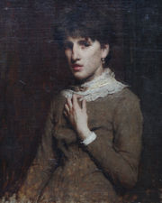 Glasgow School Portrait of a Young Woman by Whistler (circle) Richard Taylor Fine Art