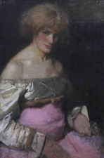 Lady in Pink by James Abbot McNeil Whistler Richard Taylor Fine Art