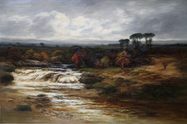 Scottish Impressionist River Landscape by William Beattie Brown Richard Taylor Fine Art