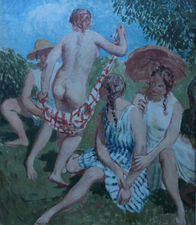 ../Post Impressionist 1930's oil painting by William Dring Richard Taylor Fine Art
