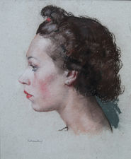 Profile Portrait of a Woman  by William Dring Richard Taylor Fine Art