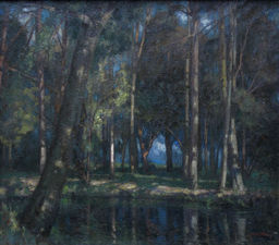 Wooded Landscape with Stream by William Thomas Wood Richard Taylor Fine Art