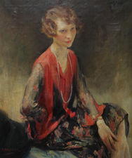 Wlater Ernest Webster - Portrait of a Lady -  Richard Taylor Fine Art